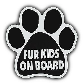 "Magnet, Hund Paw, Pels Kids Om bord, 5,5"" X 5,5"""