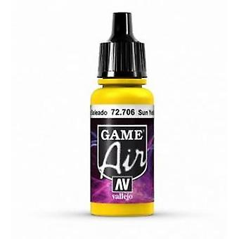 Vallejo Game Air 17ml Acrylic Airbrush Paint 72.706 Sun Yellow
