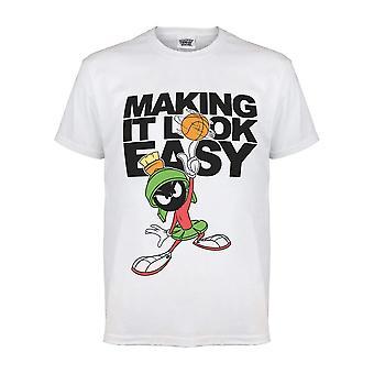 Looney Tunes Herren Easy Marvin Der Mars-T-Shirt
