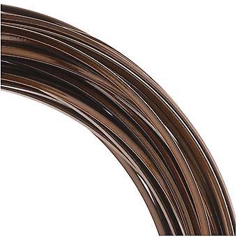 Beadsmith ei-tarnish vintage pronssi päällystetty kupari neliö käsityön lanka 18Ga (21Ft)
