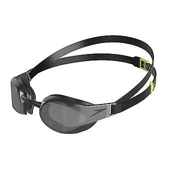 Speedo Fastskin Elite Mirror Senior Adults Swimming Goggles - Black/Grey