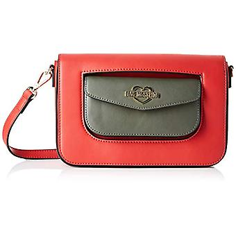 Love Moschino Calf Pu, Women's Crossbody Bag, (Red/Green), 15x5x24 cm (W x H x L)