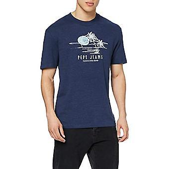 Pepe Jeans Elias T-Shirt, Blue (Old Navy 584), XX- L arge Men's