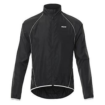 Muži Reflexní cyklistická bunda prodyšná dlouhý rukáv kolo jersey wind coat vesta outdoor sportovní oblečení