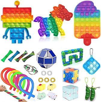 Sensorische Fidget Toys Set Bubble Pop Stress Relief voor kinderen Volwassenen Z89