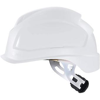 Pheos E-S-WR Schutzhelm - Unbelüfteter Arbeitshelm für Elektriker - Weiß Weiß