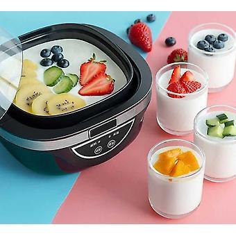 Elektrisk automatisk yoghurt maker, hushållsris vintillverkning maskin, beröring