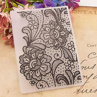 Flowers Print, Diy Plastic Embossing Folders,  Scrapbooking Paper Craft /card