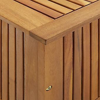 vidaXL caja de almacenamiento de jardín 90x50x106 cm acacia de madera maciza