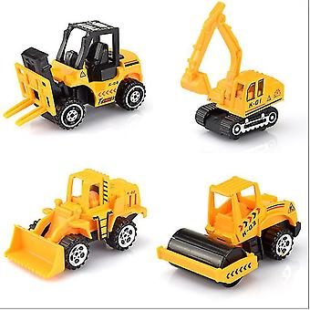 4Pcs simulation alloy car, engineering vehicle, excavator, bulldozer, children's toy car set az7013