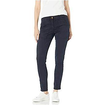 Daily Ritual Women's Standard Stretch Cotton/Lyocell Zip-Pocket Utility Pant