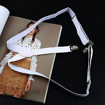 Herren Damen Clip-on Verstellbare elastische Hose Y-Rücken Slim Hose Gürtel