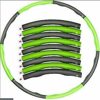 8 pezzi Hula Hoop Fitness Foam Abdominal Trainer Fitness Workout Praise (Grigio Verde)
