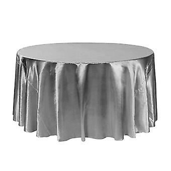 Round Table Tablecloth Table Cover Hotel Banquet Dining Decoration Wedding Satin Tablecloth