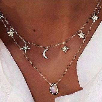 Pentagram Star Necklace(Gold)