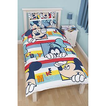 Disney Mickey Mouse Play Reversible Kids Single Duvet Cover Bedding Set