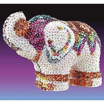 Sequin Art 3D Sequin Elephant