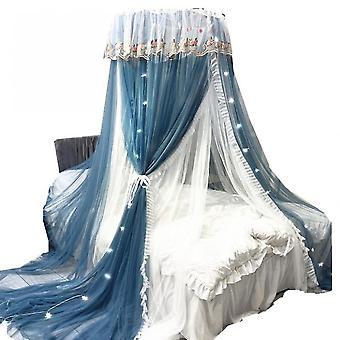 السرير المظلة الدانتيل البعوض الناموسية، جولة الدانتيل قبة الأميرة البعوض صافي(الأزرق)