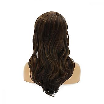 Women Fashion Synthetic Hair Wig Body Wavy Full Wigs For Natural Party Use Brown