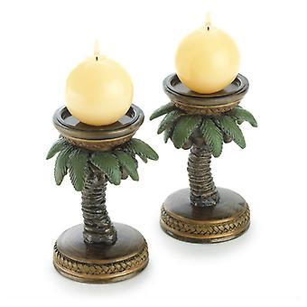 Gallery of Light Palm Tree Candle Holder Pair, Pack of 1
