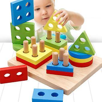 צעצועים צעצוע עץ חינוכי לילדים למידה מוקדמת תרגיל משחקים  צעצועים למתמטיקה