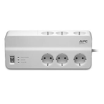 APC PM6-GR, 1836 J, 6 AC-Ausgänge, Typ F, 230 V, 50 Hz, 2300 W