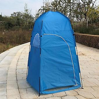 Sommer Private Duschzelt für Outdoor Camping Wandern Angelhaus(blau)