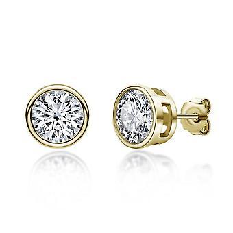 Moissanite Solitiare Jewellery Gift Stud Earrings