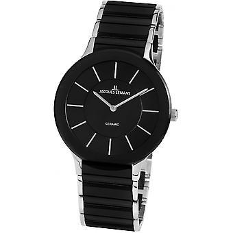Jacques Lemans Negro Acero Inoxidable 1-1856A Reloj de Mujer