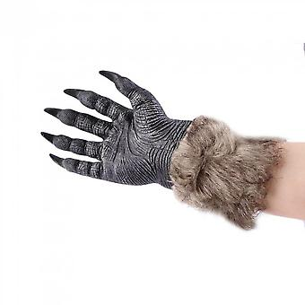 Werewolf Wolf Paws Halloween Cosplay Gloves Creepy Costume Theater Toys