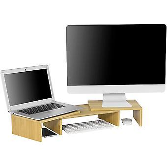 SoBuy BBF08-N Diseño Monitor Riser para 2 Monitores
