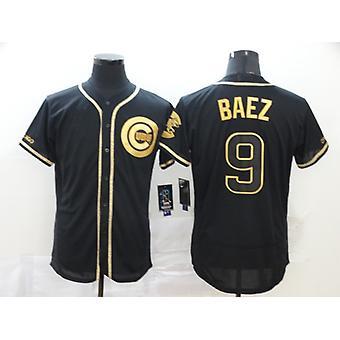 Férfi Baseball Jersey #9 Baez #2 Bregman #3 Harper Player Jersey Game Fans Sport póló neve és száma Varrott Fekete S-3xl