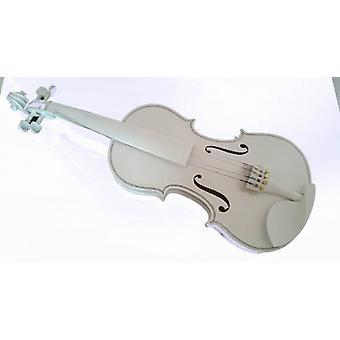 Student Akustisk Fiolin All Maple Gran Med Bow Rosin All White