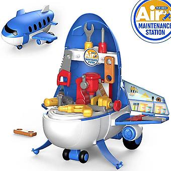 Engineering Speelgoed Children's Play House Cartoon Misvormd Vliegtuig Model Kerstcadeau