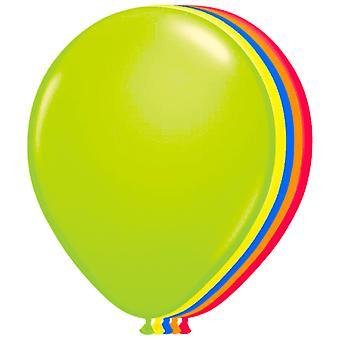 Ballons Neon 100 St. Luftballons Neonparty 80er 90er 25 cm groß Neonballons