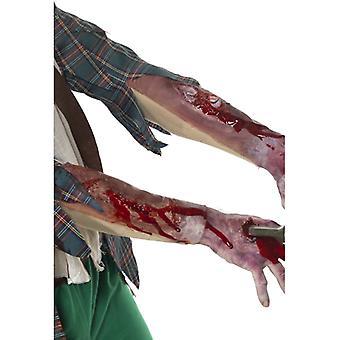 Wunde 10cm Latexwunde Blut Narbe Horror Halloween
