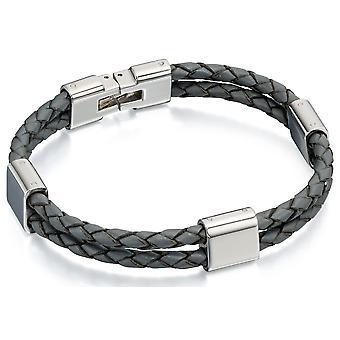 RVS modieuze lederen armband