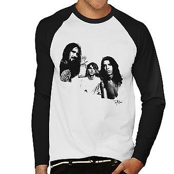 Nirvana Grohl Cobain Novoselic portræt mænds Baseball langærmet T-Shirt