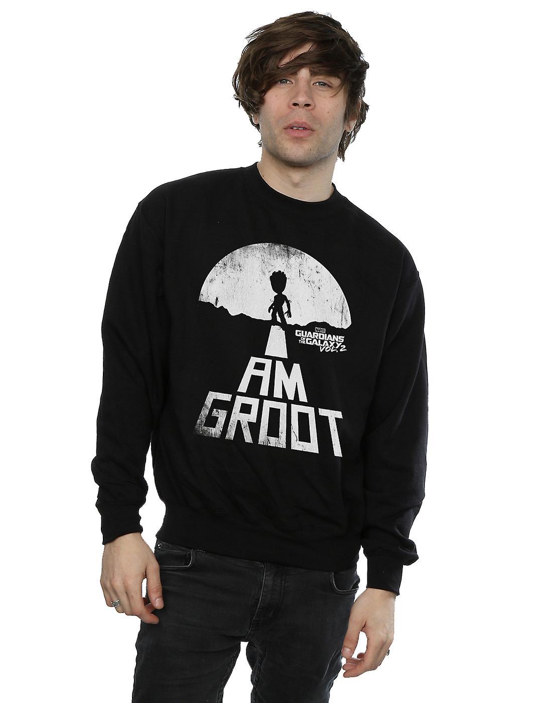 Marvel Men's Guardians Of The Galaxy I Am Groot White Sweatshirt