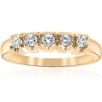 1 / 2ct Runde diamantene Hochzeit 14K Gold Ring