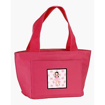 Carolines Treasures  BB5181PK-8808 Ballerina Long Dark Hair Lunch Bag