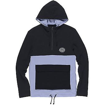 Element Ridley QTR zip Pullover Hoody in Flint Black