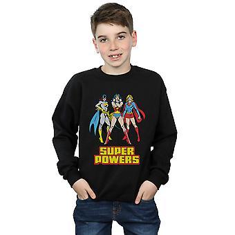 DC Comics Boys Wonder Woman Super Power Group Sweatshirt