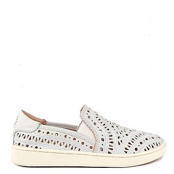 UGG Cas White Perforated Slip On Trainer