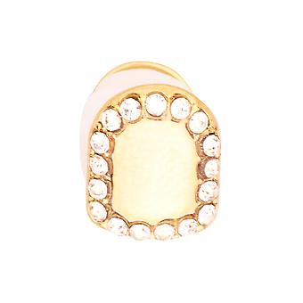 Iced 10x8mm Bling Grill - One size fits all Zahnaufsatz gold