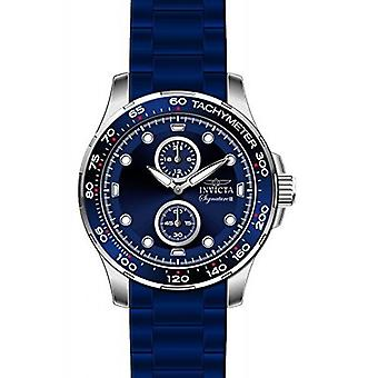 Invicta Men's 7082 Signaure Blue Dial Blue Ion-Plated Watch