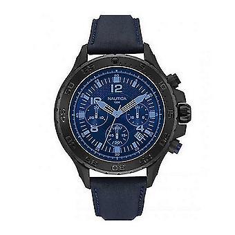 Nautica men's watch Chrono NAI21008G wristwatch leather