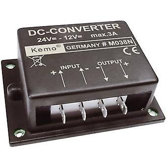 Kemo Voltage transformer Component Input voltage (range): 24 - 26 V DC Output voltage (range): 12 V DC (max.)