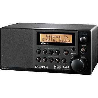 Sangean DDR-31 + bureau radio DAB +, FM AUX zwart