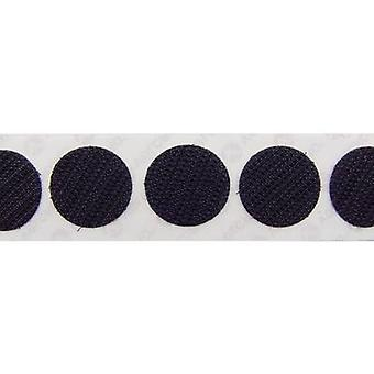 VELCRO® E28801933011425 Hook-and-loop stick-on dots stick-on Loop pad (Ø) 19 mm Black 1120 pc(s)